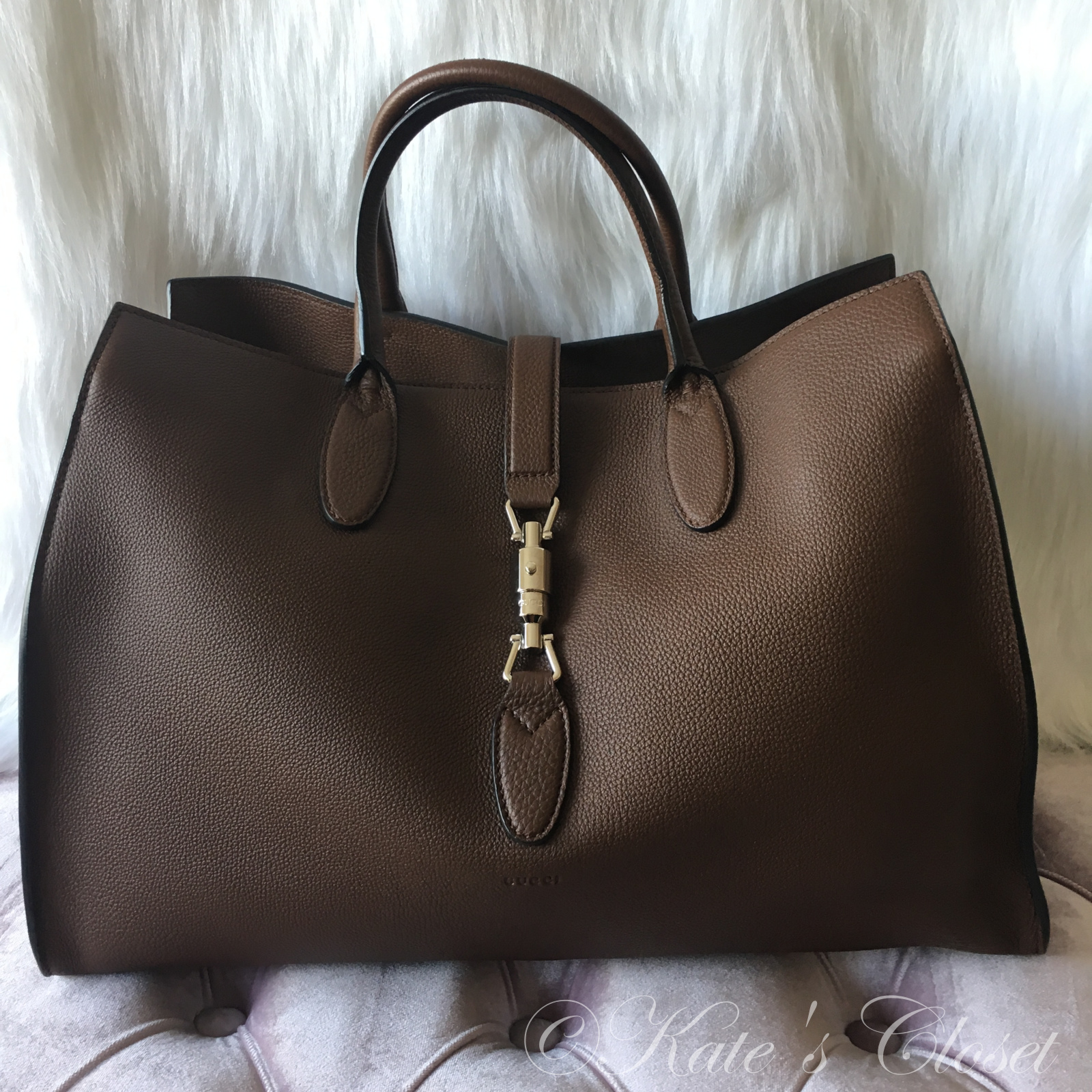 NEW GUCCI Grand Prix Nut Brown Handbag