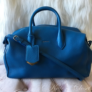 NEW BALENCIAGA Ddxon Veau Gros Grain Bleu Shoulder Bag