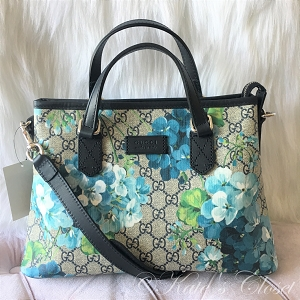 NEW GUCCI GG Bloom Blue Satchel