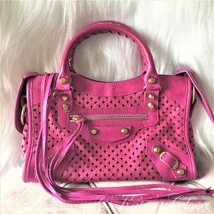 BALENCIAGA Classic Mini City Bag- Pink
