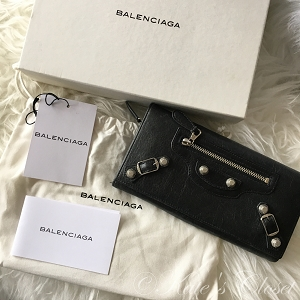 BALENCIAGA Giant City Wallet- Black