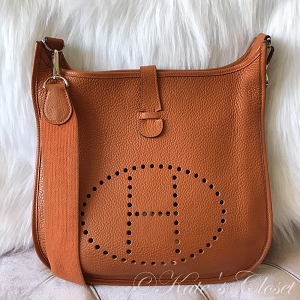 HERMES Evelyne II GM- Orange