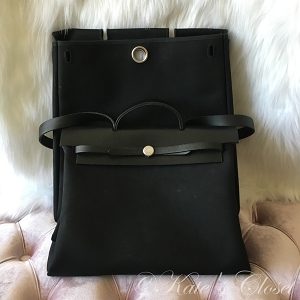 HERMES Herbag 2 in 1- Black Satchel/Shoulder Bag
