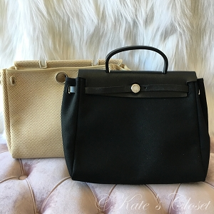 HERMES Herbag 2 in 1- Black and White