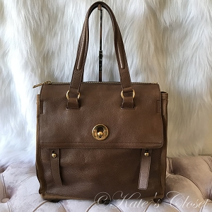 YSL Brown Leather Tote