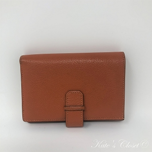 Hermès Orange Compact Two-fold Wallet