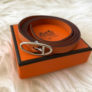 HERMES Hapi Orange Wrap Bracelet