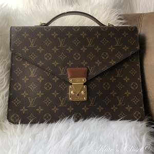 LOUIS VUITTON Vintage Porte-documents Bandouliere Business Bag