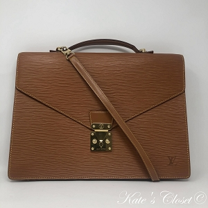 LOUIS VUITTON Porte Document Epi Vintage Briefcase Laptop Bag