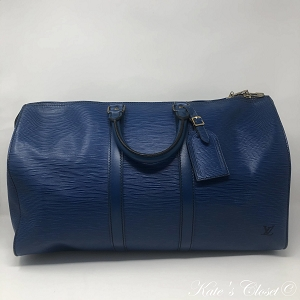 LOUIS VUITTON Keepall Vintage 45 Toledo Blue Weekend/Travel Bag