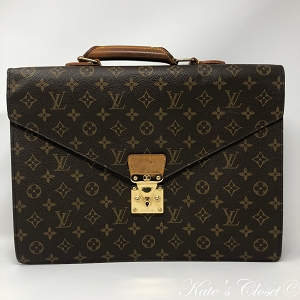 LOUIS VUITTON Monogram 2002 Serviette Conseiller Briefcase