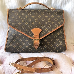 LOUIS VUITTON Beverly Monogram Briefcase GM Shoulder Bag