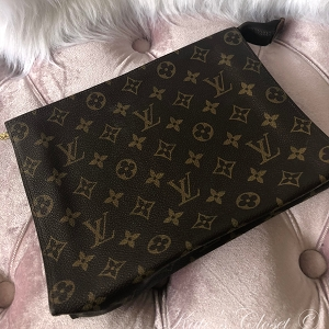 LOUIS VUITTON Vintage Monogram Toiletry Pouch- Clutch