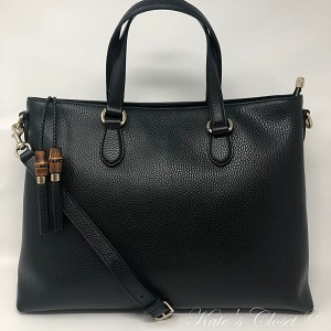 NEW GUCCI Bamboo Shopping Tassel Dollar Calf Tote  449642