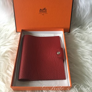 HERMES Togo Leather Ulysee PM Notebook Cover
